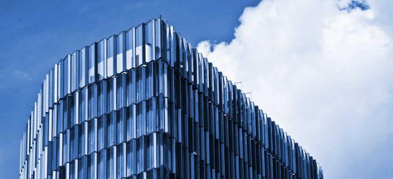 Modernes hohes Gebäude.